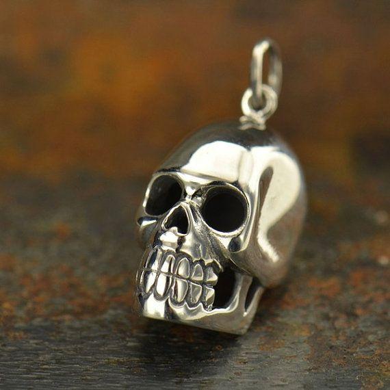 Skull pendant 25 pinterest sterling silver skull pendant mozeypictures Images