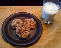 "Make Delicious Vegan Oatmeal Raisin Cookies in 10 Minutes: Photo by <a href=""http://veganwifey.blogspot.com"">Kara Kehoe of VeganWifey.blogspot.com</a>"