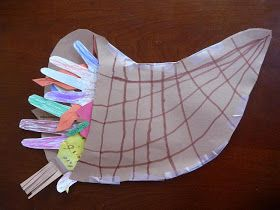This is a really nice Thanksgiving cornucopia(horn of plenty) craft for kids from Triangle Mommies. It's slightly different from the oth...