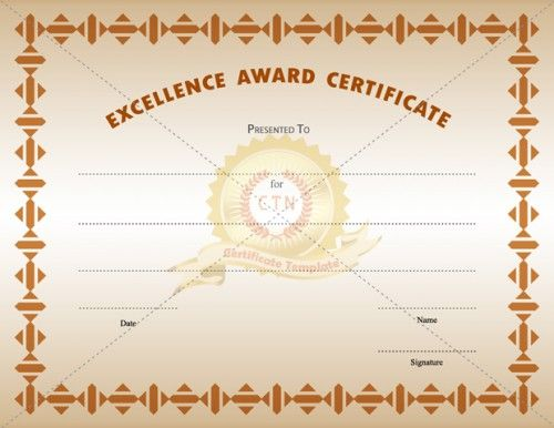 16 best Award Certificates images on Pinterest Award - excellence award certificate template