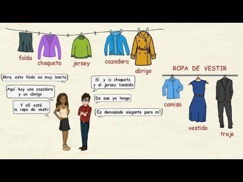 Aprender español: La ropa (nivel básico). En este vídeo repasamos el vocabulario básico sobre la ropa en español, tanto para hombres como para mujeres. Ademá...