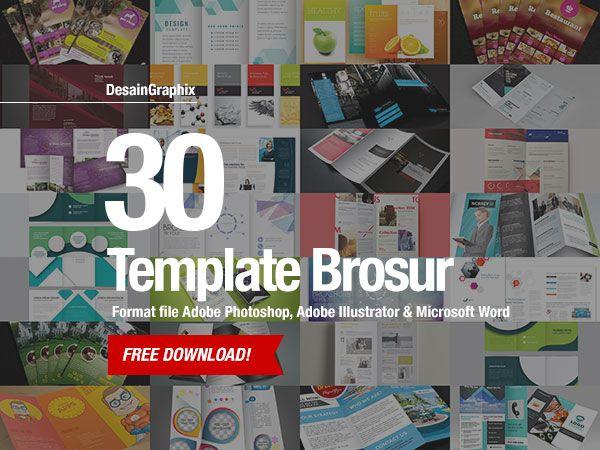 30 Template Desain Brosur Free Download Format Photoshop