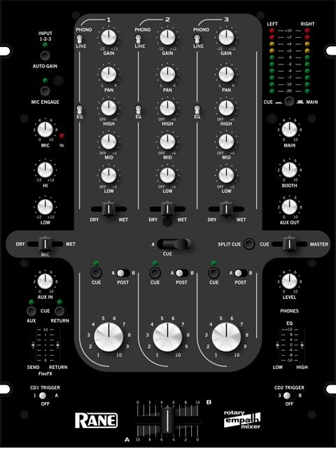 Rane Empath DJ Mixer - rotary version: