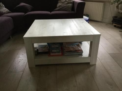 ≥ Witte houten salontafel - Tafels   Salontafels - Marktplaats.nl