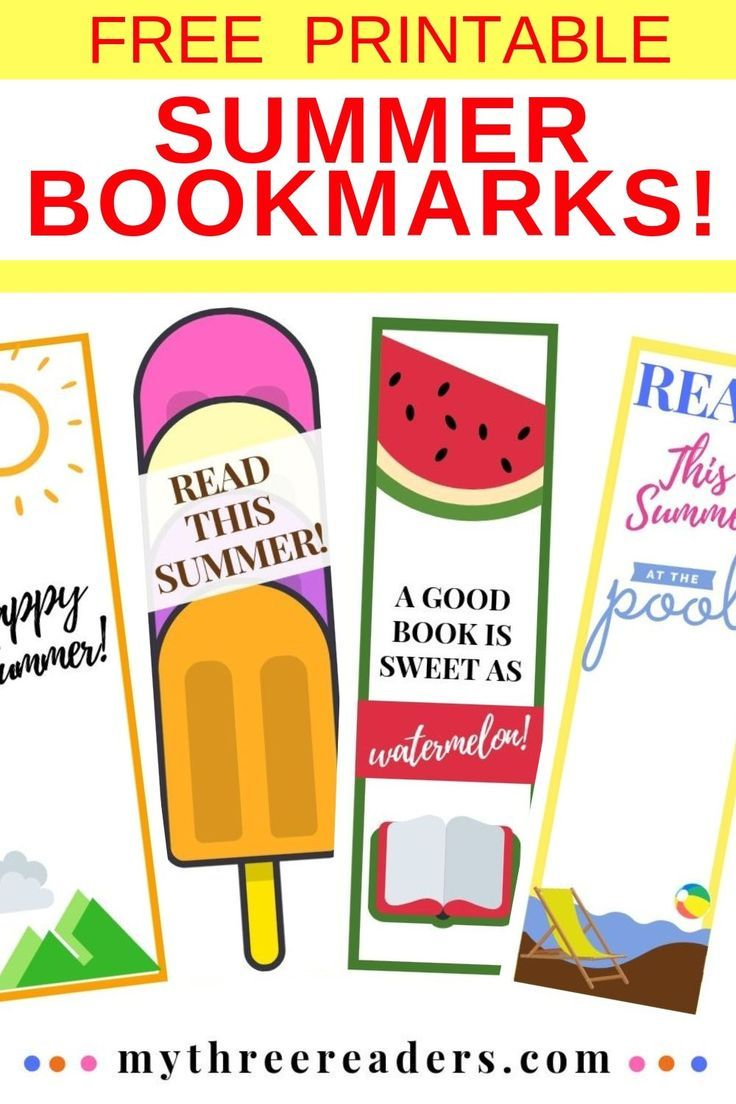 Free Printable Summer Bookmarks To