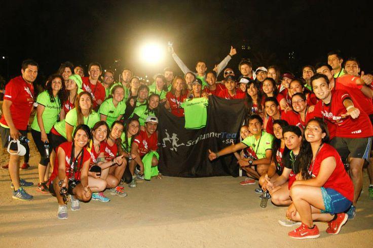 SRT en el mega evento final del año We Run Santiago 2013 =) celebracion 1º año de SRT =)