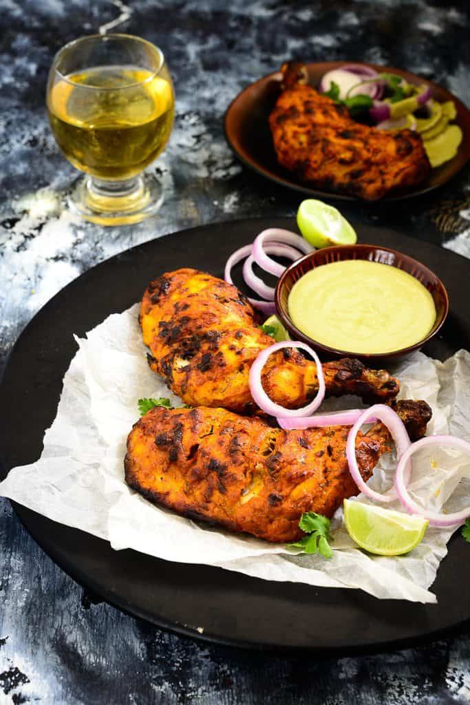 Tandoori Chicken Recipe in Air Fryer, Chicken Tandoori, tandoori chicken recipe without oven, tandoori chicken sanjeev kapoor, tandoori chicken Indian recipe, how to make tandoori chicken at home