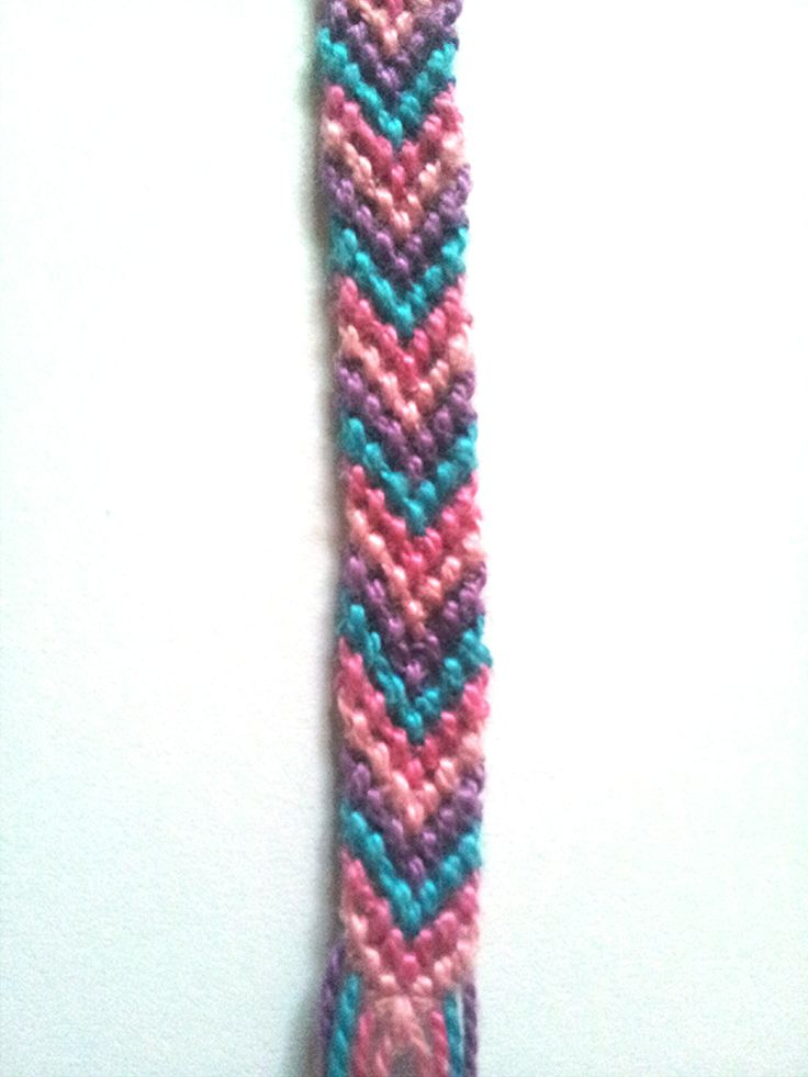 A bright and colorful Bracelet!    I can customize them to your choice of 1-4 colors! Just leave me a note at the checkout!    Pattern measures Approximately half an inch wide, and 4 inches long with a 1 inch loop, and Extra string to tie it off    expect 2-4 days between the time of order to the...