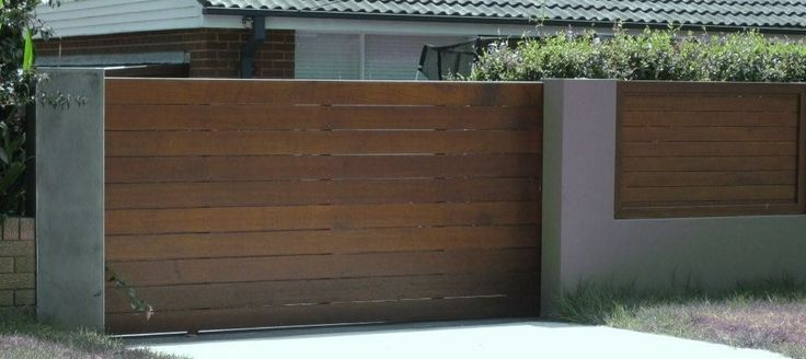 modern timber gates - Google Search
