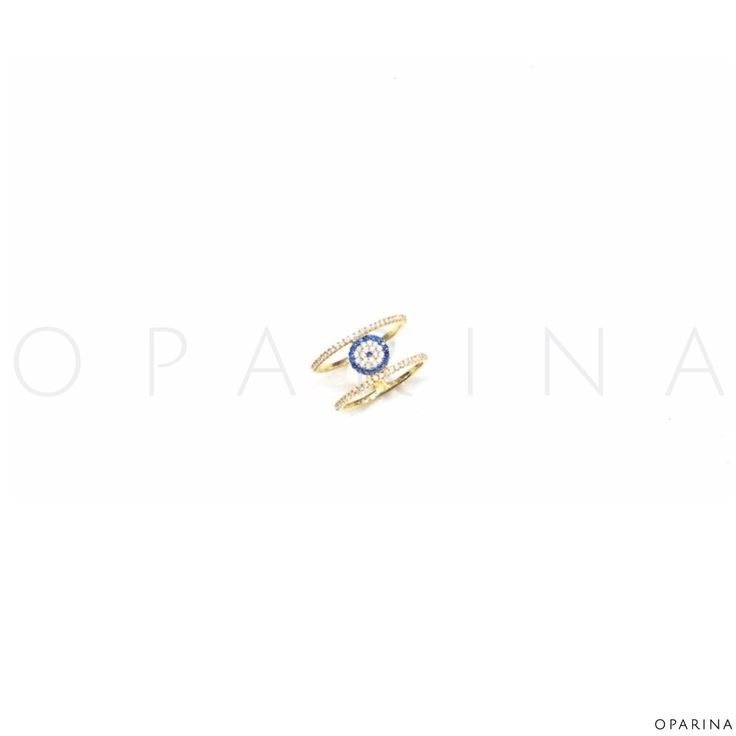 Anillo en Plata Dorada de Ojo Turco. #ring #turkisheye #evileye #oparina #ojoturco #gypsy #protection  #madewithstudio