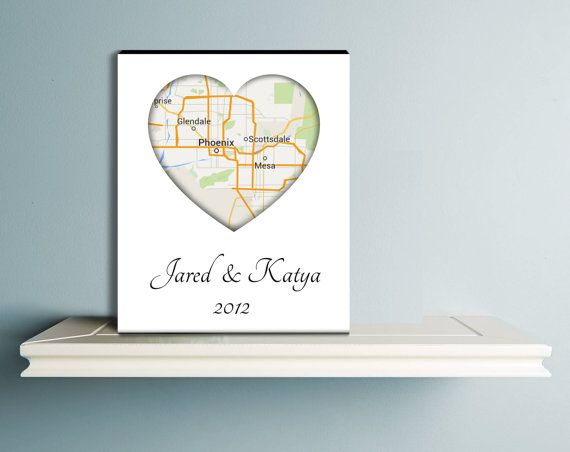 Love Map Canvas Heart Map Canvas Gift Design Only by CanvasVows