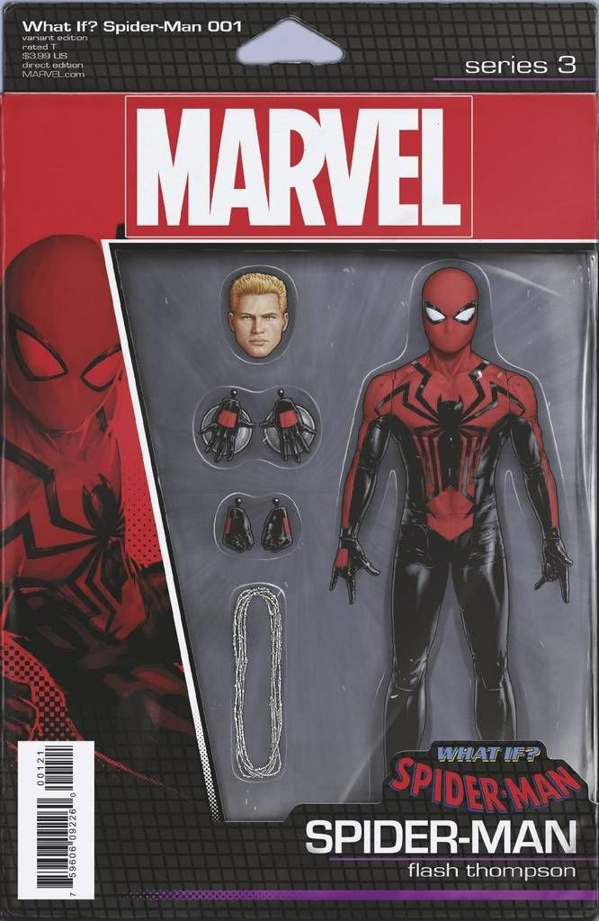 SECRET WARS #1 SPIDER MAN ACTION FIGURE VARIANT BLACK COSTUME MARVEL NOW 2015