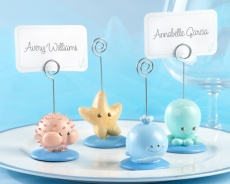 Beach Buddies Seashore Place Card & Photo Holders...puffer, starfish, whale and octopus: Placecard, Cards Photo Holders, Place Cards, Seashore Places, Holders Sets, Places Cards Holders, Beaches Buddy, Places Cards Photo, Baby Shower