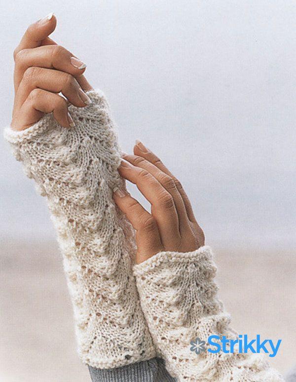 Лицами самые модные митенки схем вязания сам
