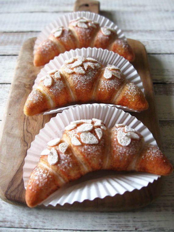 NEW Felt Almond Croissant by milkfly on Etsy