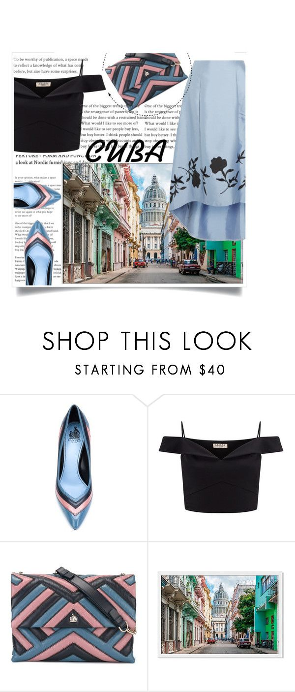 """Untitled #29"" by shamsiya57 ❤ liked on Polyvore featuring Lanvin, Lipsy and NOIR Sachin + Babi"