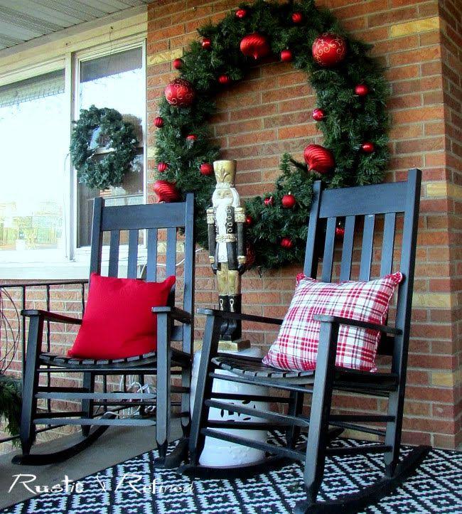 Christmas Porch Decorating Porch Decorating Patio Decor Christmas Porch Decor