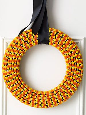 Halloween Craft: Candy Corn Wreath