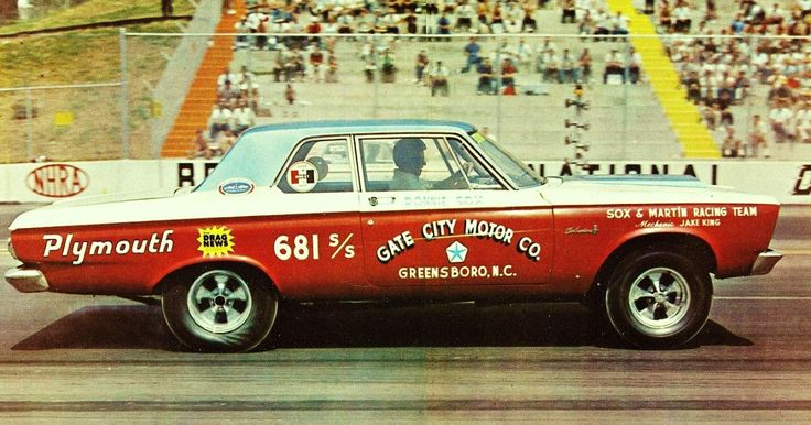 Ol' Mr 4 Speed Ronnie Sox leaving the line in his 1965 Plymouth Super Stock at Bristol Raceway, Tennessee.