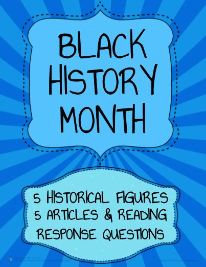 Free Black History Month Activities for students! Download Free ELA or Social Studies activities perfect for any age. Enjoy 5 nonfiction articles and reading response activities for 5 African American historical figures. The articles and activities can be completed independently with older students or as a whole-class activity with younger students. Black History Activities for Middle School? High School? Or even Upper Elementary? Read and write about African American History.