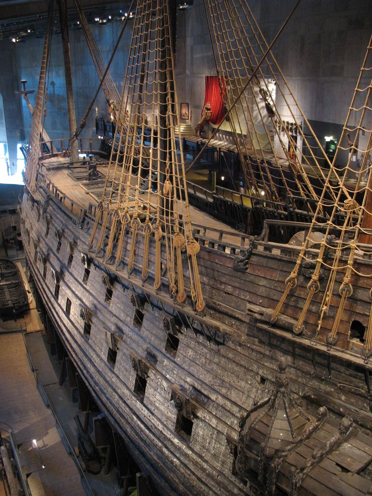 The Swedish warship Vasa sank on its maiden voyage in 1628 in the harbour of Stockholm. It can nowadays be seen in Vasa Museum, Stockholm which is extremely popular