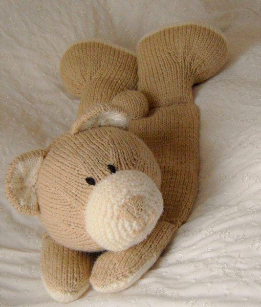 Bear Pyjama Case Knitting Pattern Nightwear Case by TobyCreates