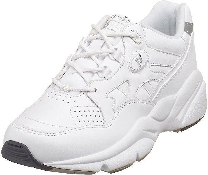 Propet Womens Stability Walker Shoe White 9.5 W D