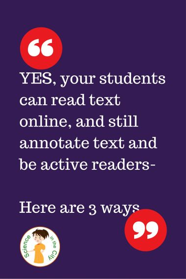 Annotating Text in a Blended Classroom I did a guest blog post on a blog called Technology Tools for Teachers If you use Google Drive with your students or for your own use you may want to share pdf files or webpages with your students for them to read. In a traditional paper and pencil face to face classroom we spend a lot of time teaching students to annotate text. This is a skill that we dont want to lose when students read online. There is extensive evidence about the importance of a...