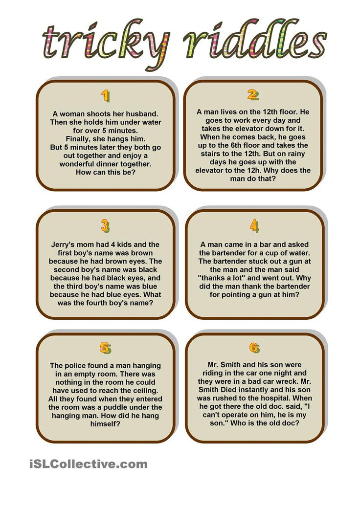 It's just a picture of Agile Riddles for Kids Printable
