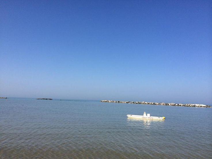 #mare #Bellaria #spiaggia #pedalò #moscone #bagnini #sole #summer #nuotare #pace