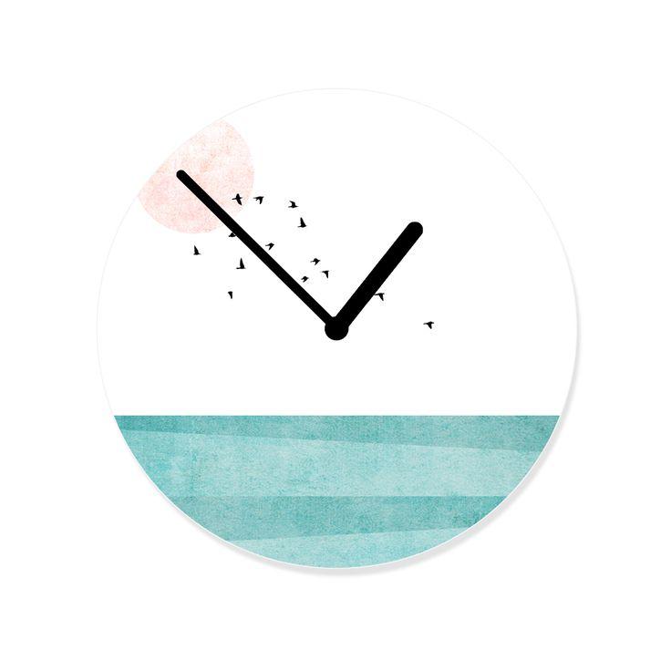 Skandinavisches Design #Uhr #Skandinavian #HelloSunday #Ame #Juno #Pastell #Vögel #Skandinavian #Skandinavisch #Scandinavian #Skandi #Uhr #Interior #Einrichtung #einrichten #Zuhause