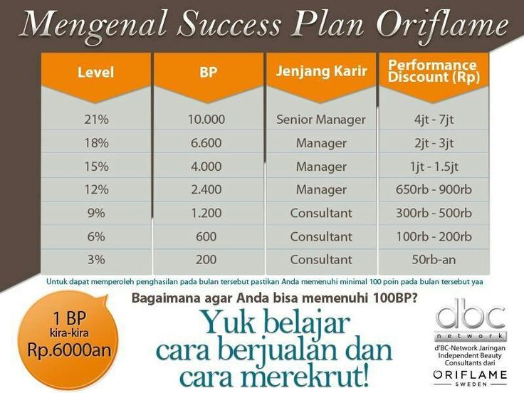 Success Plan Oriflame #bisnis