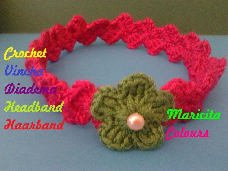 Crochet tutorial vincha mary vintage diadema bebe - Diademas a crochet ...