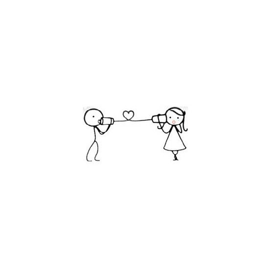 stick figure boy and girl <3 that would make a gorgeous tattoo!
