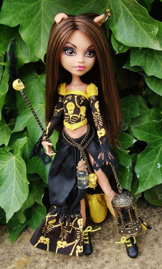 "Monster High Howleen Custom OOAK Outfit Clothing ""Bag Of Bones""  By Datsundolly (boots not included)"