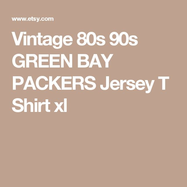 Vintage 80s 90s GREEN BAY PACKERS Jersey T Shirt  xl