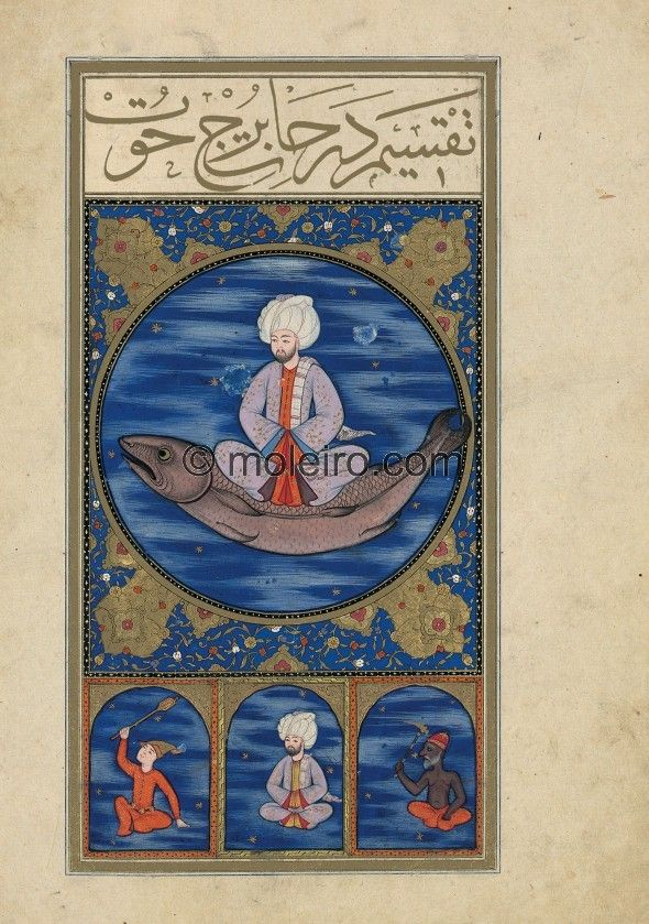 f. 30v, The Image of Pisces. Contrary to the most common western iconography that always shows two fish, in Arabic tradition the... The Book of Felicity - Matali' al-saadet (1582, Suppl. turc 242) Bibliothèque nationale de France