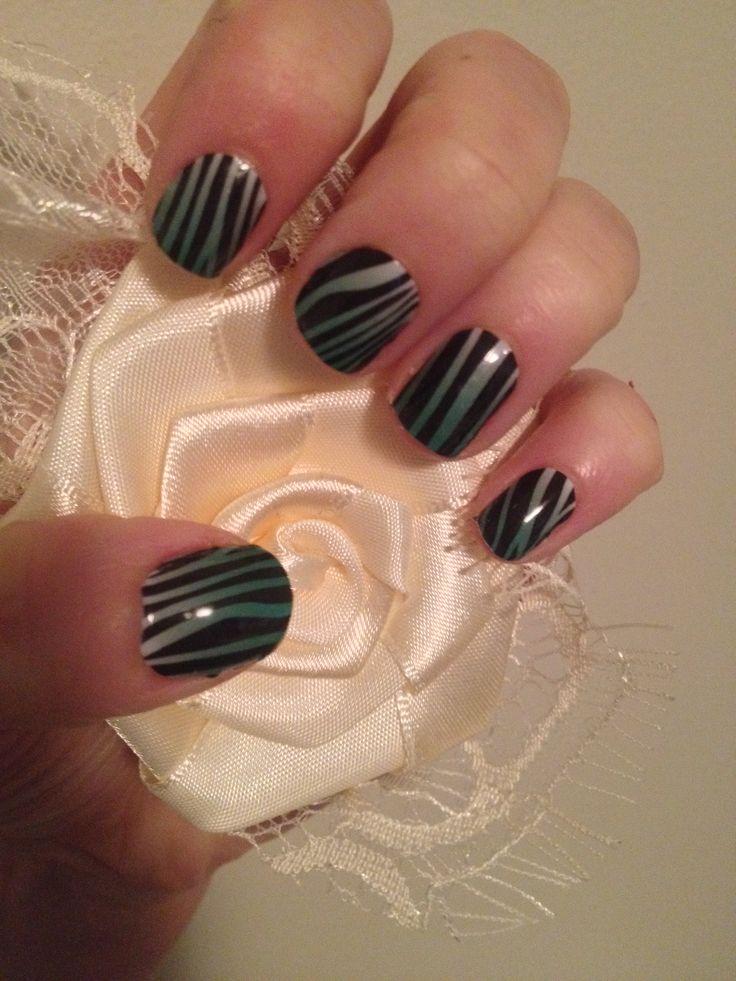 Emerald ombré zebra. Love it!