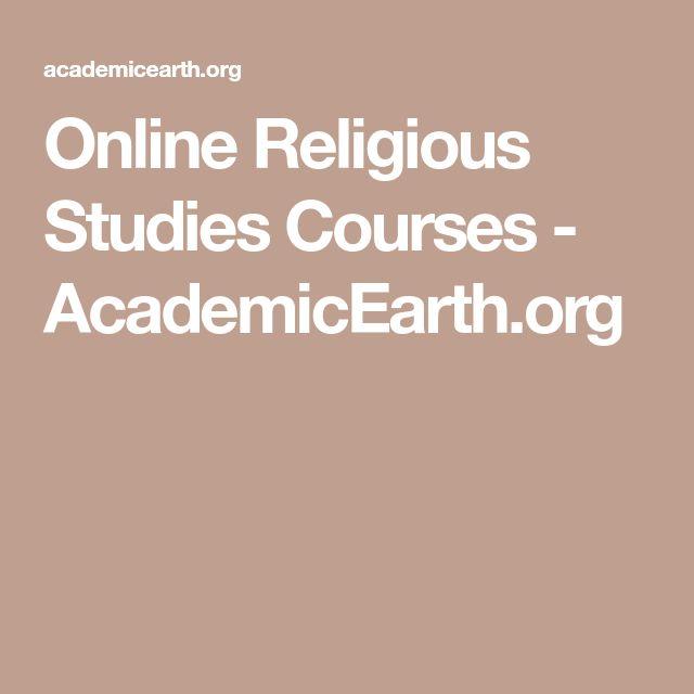 Online Religious Studies Courses - AcademicEarth.org