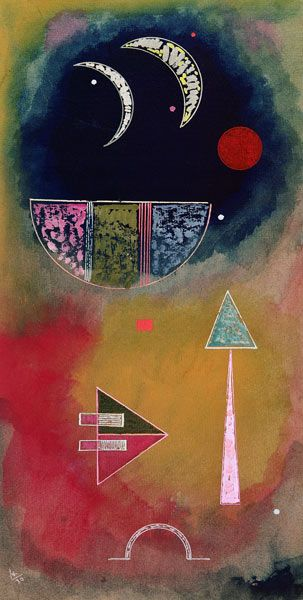 "Wassily Kandinsky/""From Light into Dark"", (1930) gouache and watercolour"