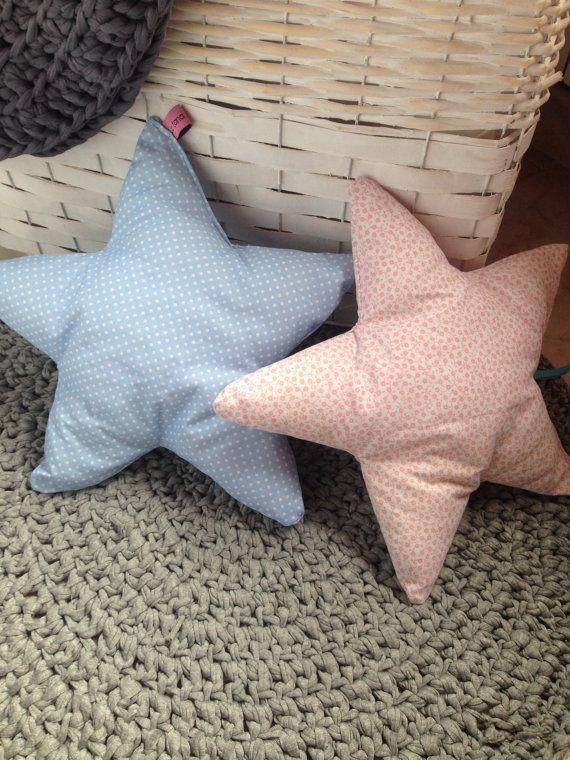 Stelle cuscino cuscino stella gemelli rosa di LaTanaDiOtto su Etsy