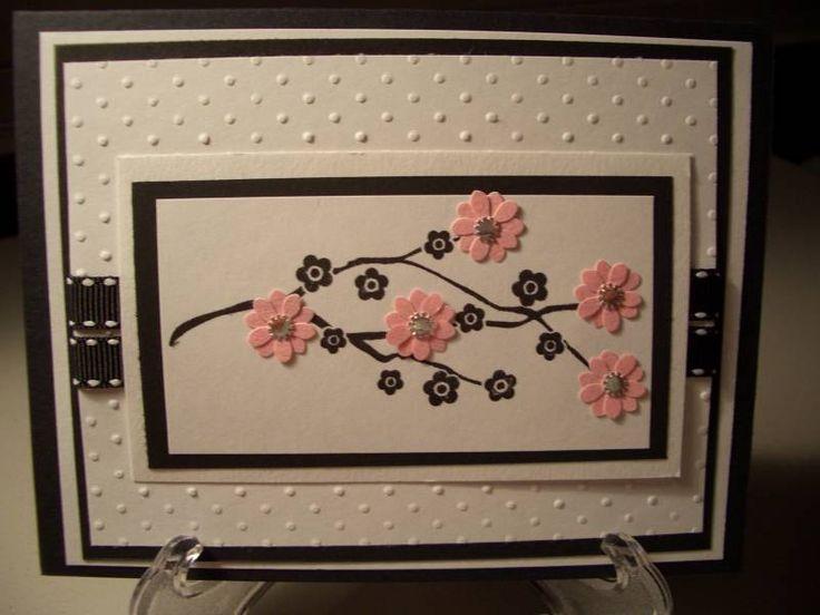 Сделать, сакура открытка своими руками