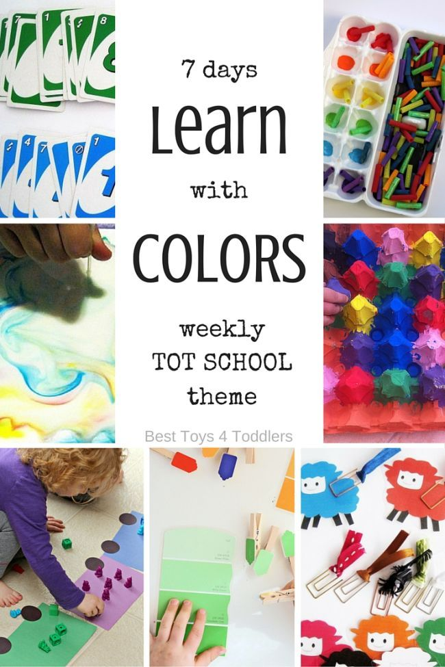 Best Toys 4 Toddlers - Weekly planner for tot school: 7 days of hands-on learning activities for toddlers