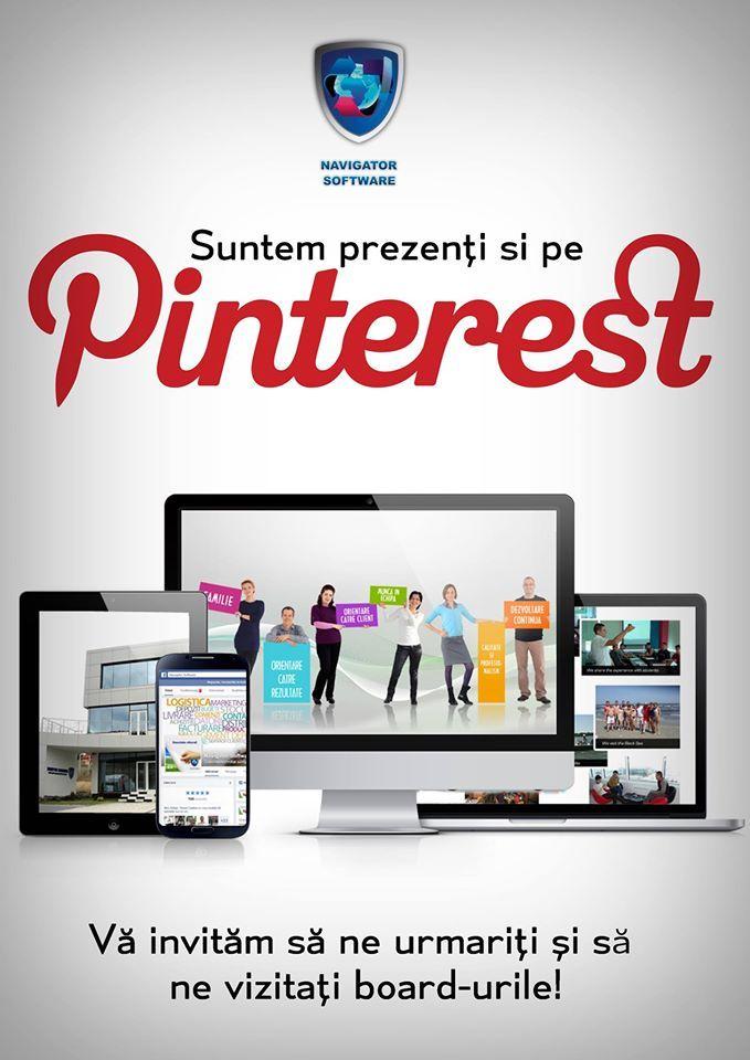Suntem prezenți si pe Pinterest! Vă invităm să ne urmariți și să ne vizitați board-urile!