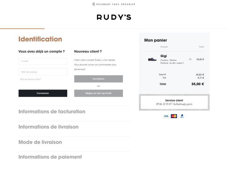 rudys.paris checkout onepage