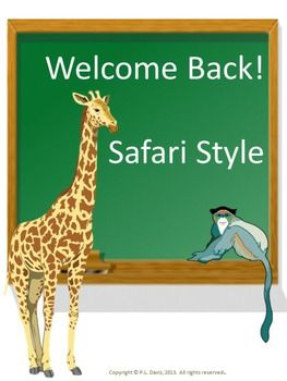 """$4 Grades Pre-K- grade 5 Looking for a way to welcome your students back for a fun-filled year? Included in this non-editable package are: -a welcome back sign for the classroom door -classroom rules -medica-discs (with an animal print) with the letters spelling """"WELCOME"""" to be posted over a door or on a walll alert and allergies charts -- a """"Guess Who, Maybe You!"""" game. Repin to remember!"""