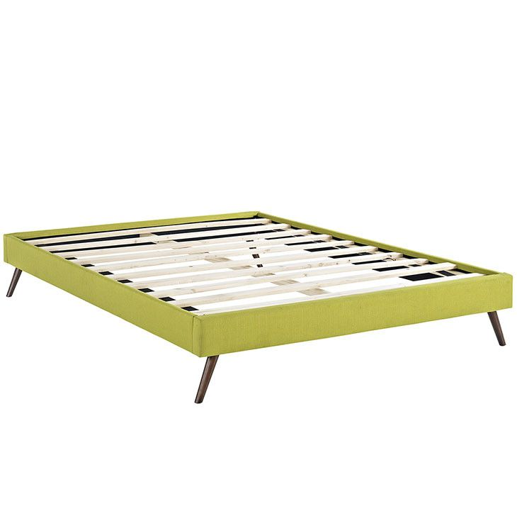 Helen Full Fabric Bed Frame with Round Splayed Legs MOD-5360