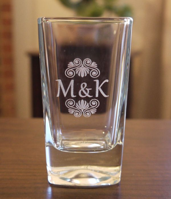Etched Glass Wedding Gifts: Custom Laser Engraved Shot Glasses For Weddings, Events