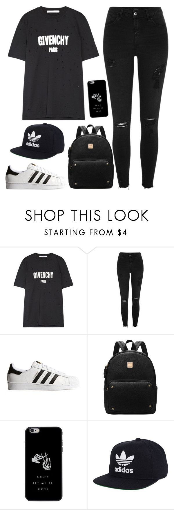 """Untitled #102"" by alexanutella on Polyvore featuring Givenchy, River Island, adidas Originals and adidas"
