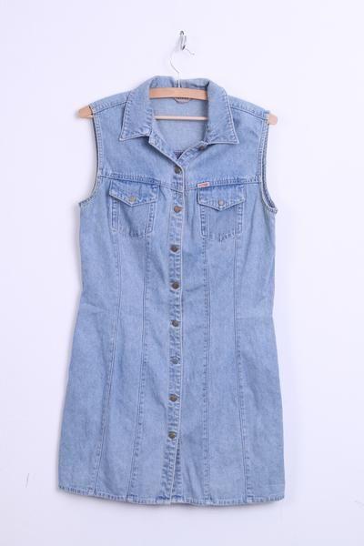Teddy's Womens 42 XL Dress Denim Sleeveless Jeans Cotton Vintage 90s - RetrospectClothes